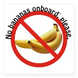 no bananas